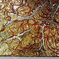 亮橙银-金铂艺术玻璃