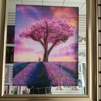 装饰画玻璃-立体三联画