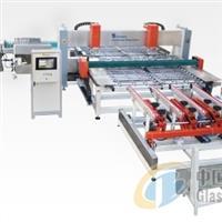 CNC全自动卧式玻璃钻孔机连线