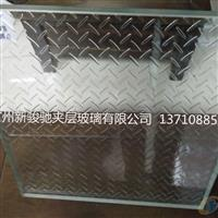 透明八字纹防滑玻璃