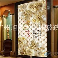 彩雕瓷砖艺术背景墙—3D玄关,隔断玻璃