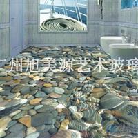 彩雕瓷砖艺术背景墙系列-3D浴室地板