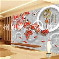 彩雕艺术背景墙系列―中式背景墙