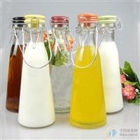 手提牛奶瓶 酵素瓶 饮料玻璃瓶