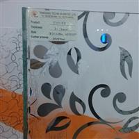 隔断玻璃 蒙砂 镀可钢化钛金