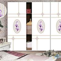 高档超白烤漆魔幻5D衣柜门玻璃