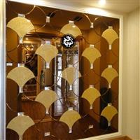 无锡艺术玻璃拼镜背景墙