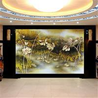 无锡艺术玻璃 背景墙