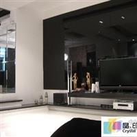 背景墙装饰黑玻璃