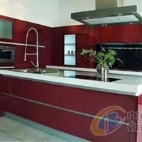 厨房柜系玻璃面板