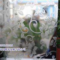 直销酸洗镀镜玻璃 多种图案尺寸