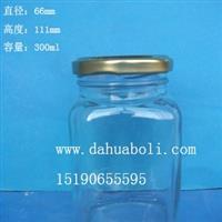 300ml方形麻辣酱玻璃瓶
