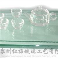 厂家供给高等玻璃茶盘