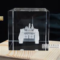水晶内雕坦克模型纪念品