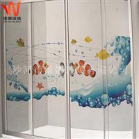 供应沐浴房沐浴门艺术玻璃