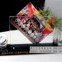 水晶钟表相片摆件纪念品