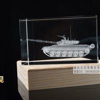 广州水晶内雕坦克模型纪念品