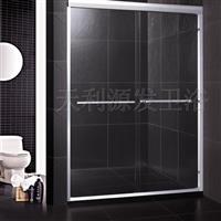 卫生间玻璃隔断双活门
