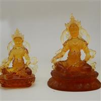 黄财神琉璃佛像