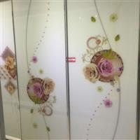 超白烤漆衣柜门艺术玻璃彩雕