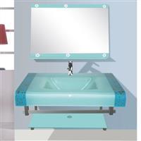 卫浴钢化玻璃台盆油墨
