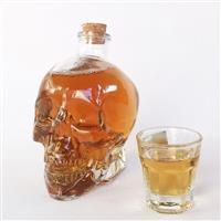 个性骷髅头酒瓶 酒吧专用红酒瓶