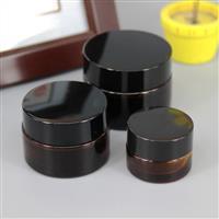 供应透明茶色膏霜化妆玻璃瓶