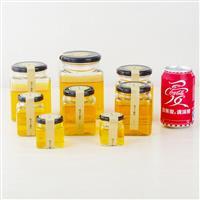 新款4棱小食品瓶子蜂蜜瓶