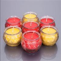 莲花造型玻璃蜡烛台