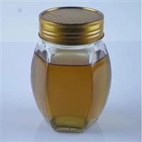 大肚六棱蜂蜜瓶铁盖密封罐