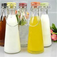 江苏手提玻璃奶瓶/新款奶瓶供应