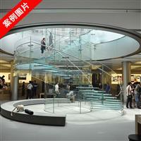 防滑玻璃地板 高强度防滑玻璃