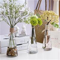 创意客厅摆件插花点点透明花瓶