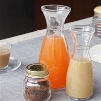 冰桔茶饮料玻璃酒杯泡茶鲜奶瓶