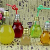 灯胆玻璃瓶奶茶瓶果汁瓶饮料瓶