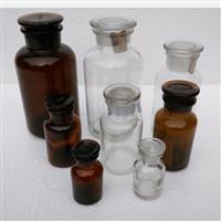 茶色透明色广口医药瓶试剂玻璃瓶