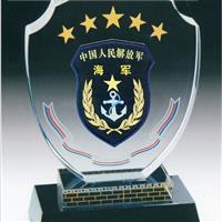黄岗海军退伍水晶纪念品定做