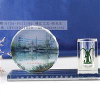 上海水晶圆形相片摆件定做公司