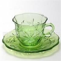 新款欧式茶杯 玻璃杯水杯 田园茶杯 玻璃咖啡杯 高档咖啡杯