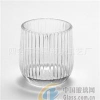 简单透明玻璃烛杯 透明玻璃烛杯
