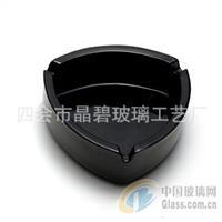 黑色三角玻璃烟灰缸 车载烟灰缸