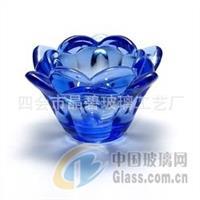莲花形玻璃烛杯 玻璃烛杯