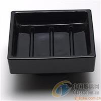 黑色清光玻璃皂碟 彩色肥皂碟