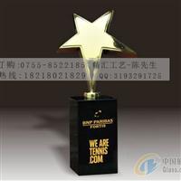 北京五角星水晶奖杯奖牌定做