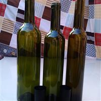 墨绿色葡萄酒瓶褐色瓶茶色瓶