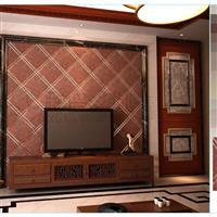 彩盛艺术玻璃拼镜客厅电视墙