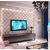 彩盛艺术拼镜电视墙沙发背景墙