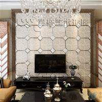 彩盛艺术拼镜镜砖微晶石电视墙