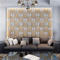 彩盛艺术拼镜中式电视背景墙