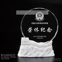 万里长城光荣退休水晶纪念品